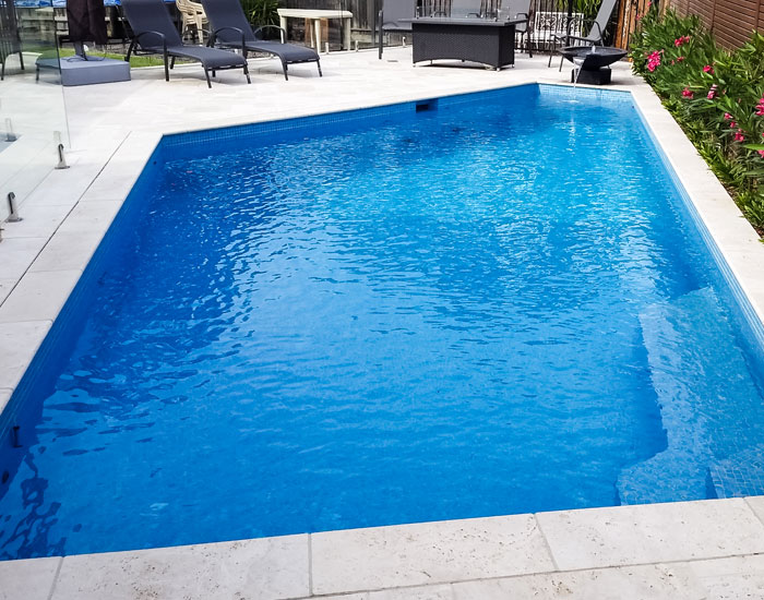 completed tiled swimming pool