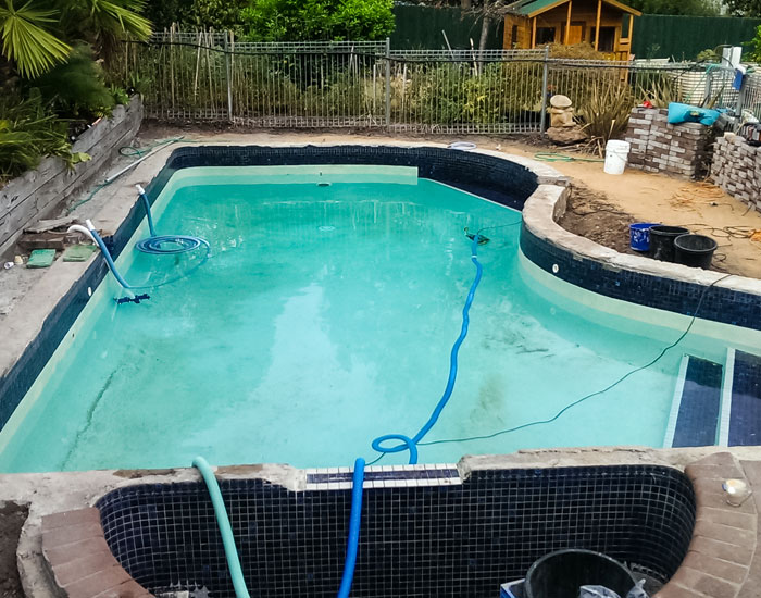 rendered pool before tiling