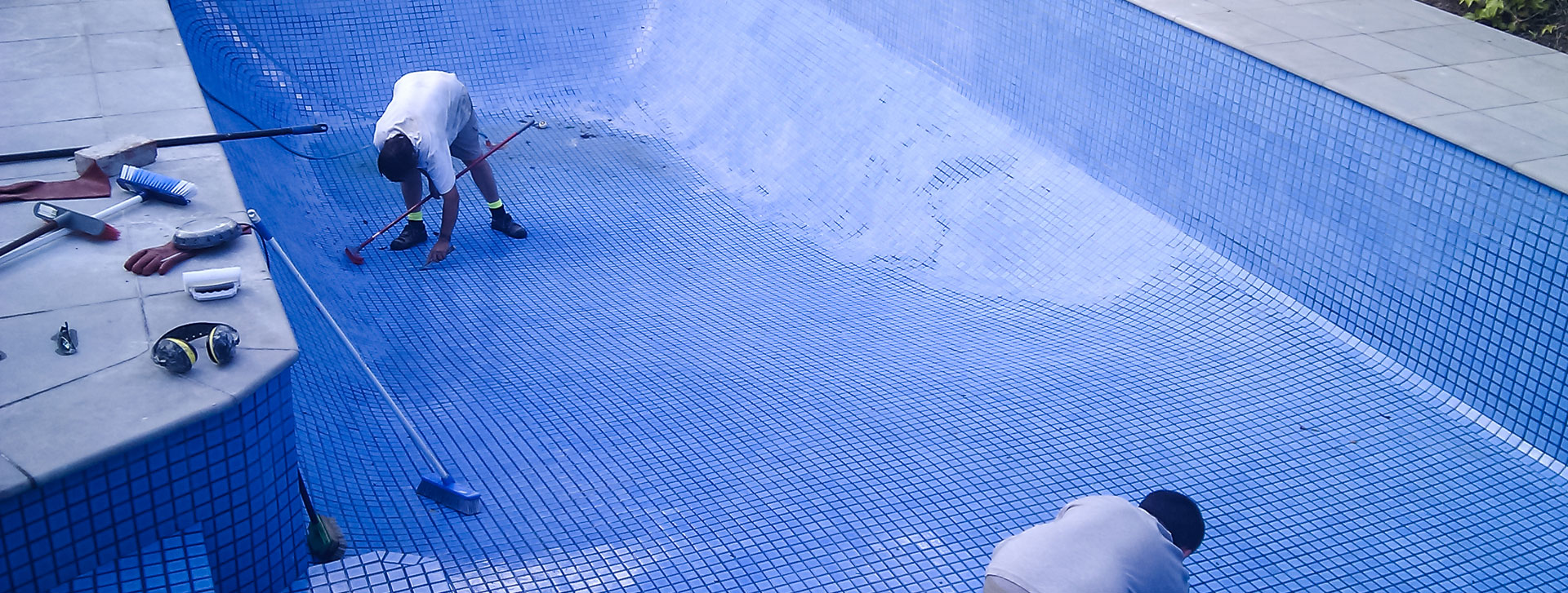 tiling a painted swimming pool