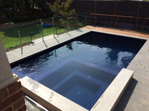 Tiling new swimming pool – Donvale