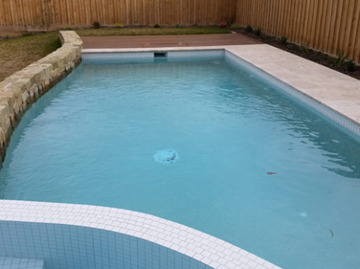 Waterline pool tiling – Kew