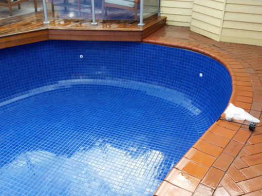 Tiling a painted pool – Melbourne