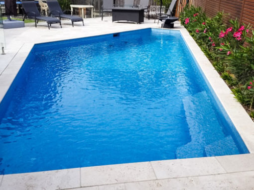 Tiling new pool – Brighton